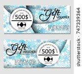 gift voucher. vector ... | Shutterstock .eps vector #747339364