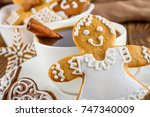 the still life on topic... | Shutterstock . vector #747340009