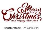 inscription marry christmas   Shutterstock .eps vector #747341644