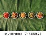 aneka sambal indonesia. five... | Shutterstock . vector #747350629
