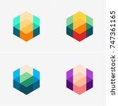modern abstract design vector... | Shutterstock .eps vector #747361165