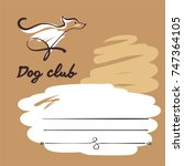 sketch vector illustration. dog ...   Shutterstock .eps vector #747364105