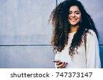 half length portrait of... | Shutterstock . vector #747373147