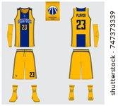 basketball uniform template... | Shutterstock .eps vector #747373339