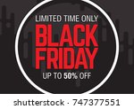 black friday sale. abstract... | Shutterstock .eps vector #747377551
