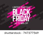 black friday sale. abstract... | Shutterstock .eps vector #747377569