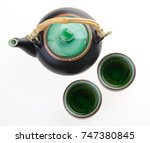 Chinese Tea Set With Cups And...