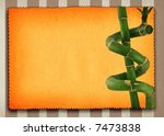 lucky bamboo background, large copy space for your content - stock photo