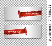 merry christmas banner in the...   Shutterstock .eps vector #747386131