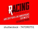 sport style modern font ... | Shutterstock .eps vector #747390751