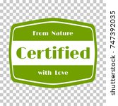 certified products icon  goods... | Shutterstock .eps vector #747392035
