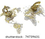 gold and silver euro and dollar ... | Shutterstock . vector #74739631