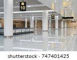 modern airport hall interior... | Shutterstock . vector #747401425