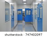 clean room for factory... | Shutterstock . vector #747402097