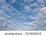 white cloud and blue sky in the ... | Shutterstock . vector #747405025