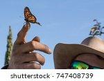 monarch butterfly release  | Shutterstock . vector #747408739