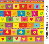 colorful seamless background.... | Shutterstock .eps vector #74740915