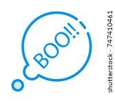 boo icon | Shutterstock .eps vector #747410461