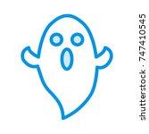 boo icon | Shutterstock .eps vector #747410545