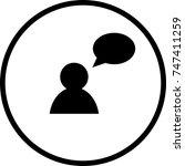talking symbol   Shutterstock .eps vector #747411259
