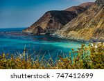 ocean view with beach shore and ... | Shutterstock . vector #747412699