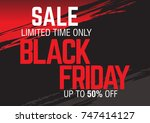 black friday sale. abstract... | Shutterstock .eps vector #747414127