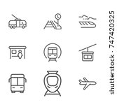 transportation line icon... | Shutterstock .eps vector #747420325