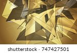 beautiful gold illustration... | Shutterstock . vector #747427501