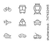 transportation line icon... | Shutterstock .eps vector #747432445
