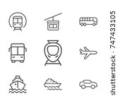 transportation line icon... | Shutterstock .eps vector #747433105