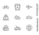 transportation line icon... | Shutterstock .eps vector #747433129