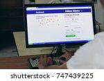 bangkok  thailand   november 3  ... | Shutterstock . vector #747439225