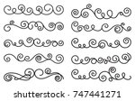 calligraphic design elements.... | Shutterstock .eps vector #747441271