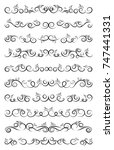 calligraphic design elements.... | Shutterstock .eps vector #747441331
