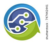 logo icon for technology... | Shutterstock .eps vector #747442441
