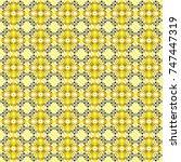 decorative backdrop in yellow ... | Shutterstock .eps vector #747447319