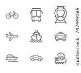 transport line icon set | Shutterstock .eps vector #747449269
