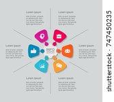 vector infographic template for ... | Shutterstock .eps vector #747450235