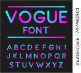 rounded font. vector alphabet... | Shutterstock .eps vector #747462901