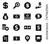 16 vector icon set   dollar ... | Shutterstock .eps vector #747463564