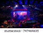 saint petersburg  russia  ...   Shutterstock . vector #747464635