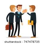 vector coworkers   Shutterstock .eps vector #747478735