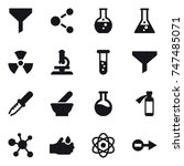 16 vector icon set   funnel ... | Shutterstock .eps vector #747485071