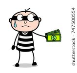 cartoon thief giving bribe for...   Shutterstock .eps vector #747500554