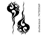 tattoo tribal designs. sketched ... | Shutterstock .eps vector #747505369
