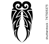 tattoo tribal designs. sketched ... | Shutterstock .eps vector #747505375