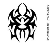 tattoo tribal designs. sketched ... | Shutterstock .eps vector #747505399