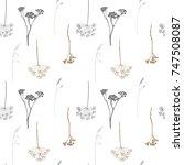 floral vector seamless pattern... | Shutterstock .eps vector #747508087