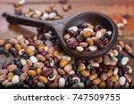 variety of protein rich...   Shutterstock . vector #747509755