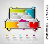 five options hotel timeline... | Shutterstock .eps vector #747515611